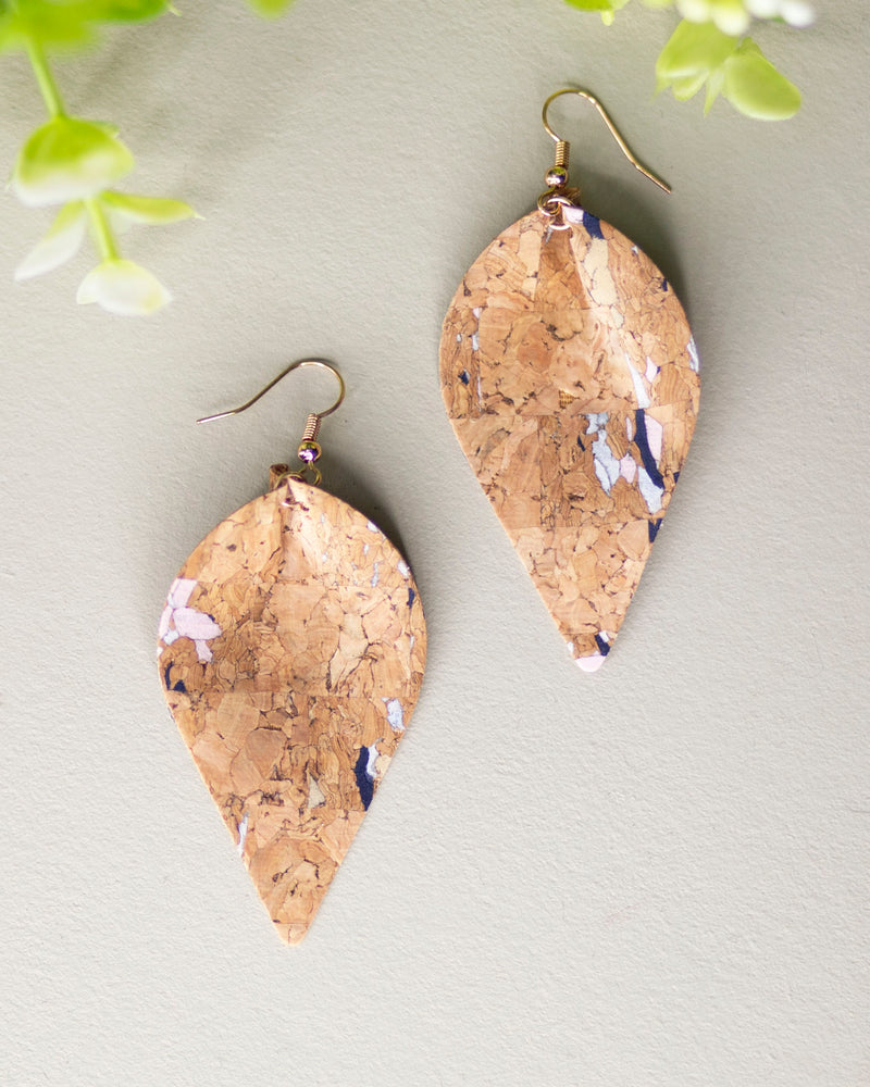 Leaf Cork Earrings