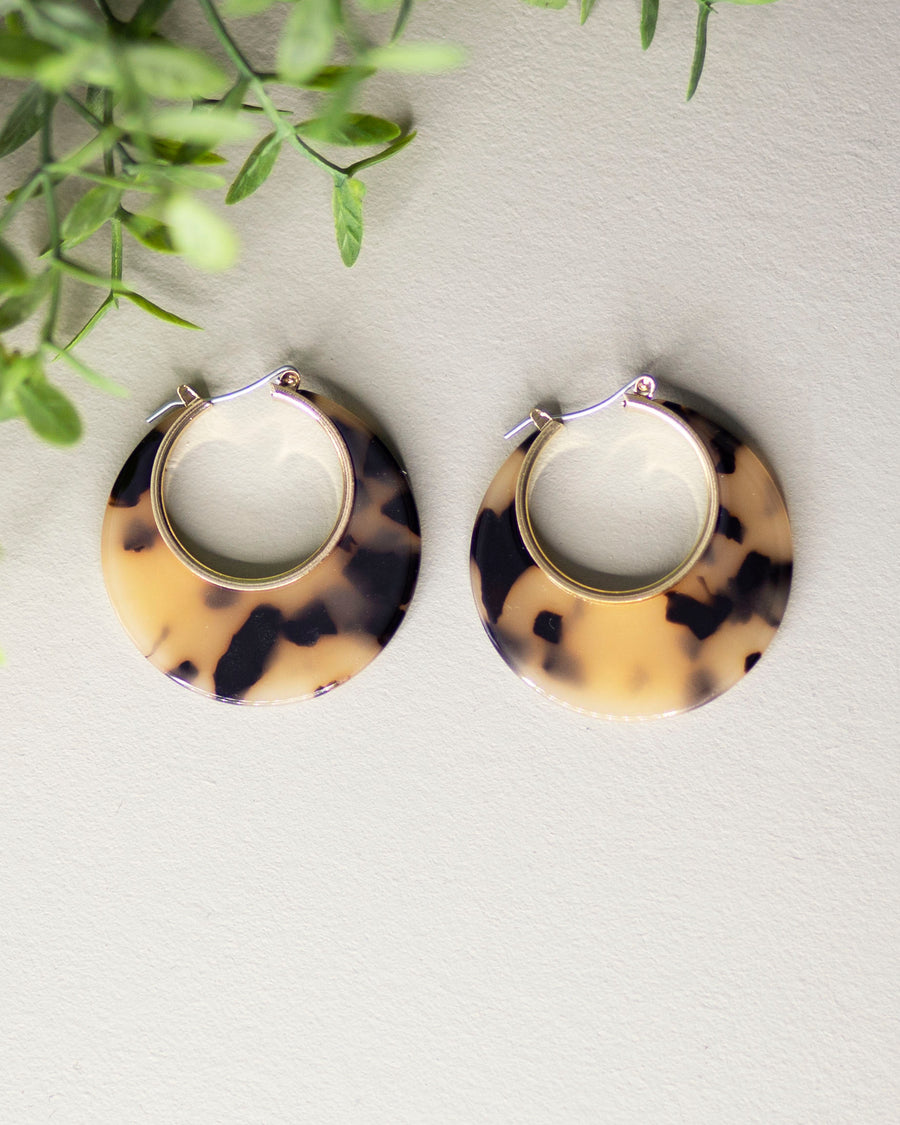 Crescent Moon Tortoise Earrings