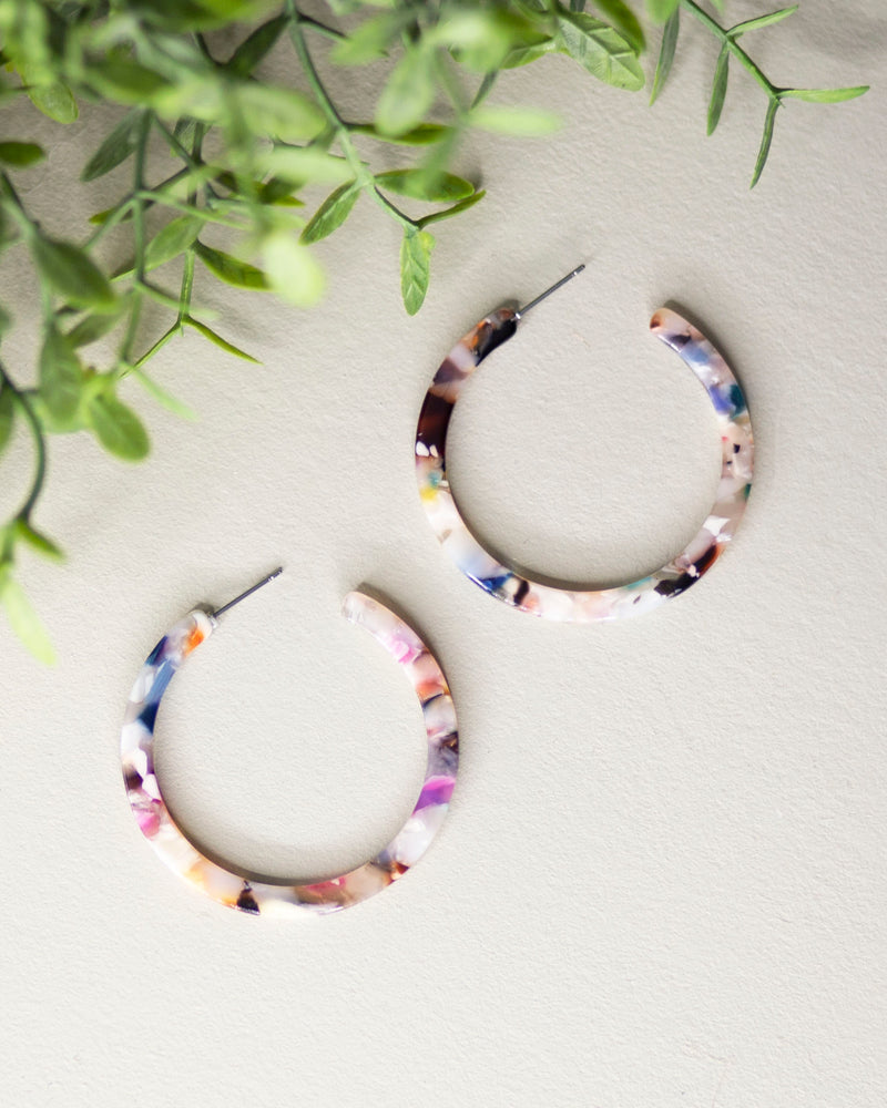 Splash of Color Hoop Earrings