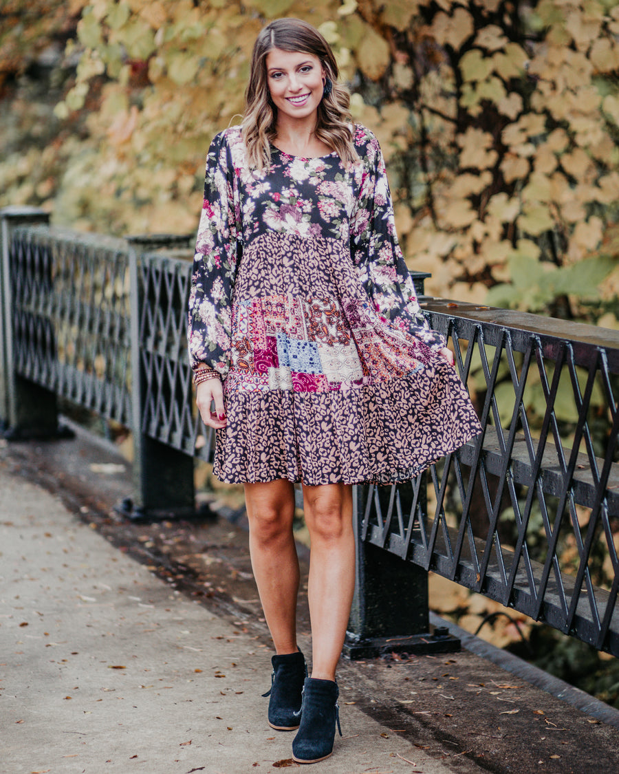 Mixed Pattern Dress