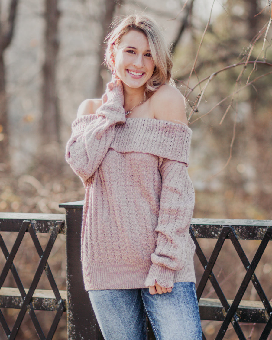 Lila Off the Shoulder Sweater