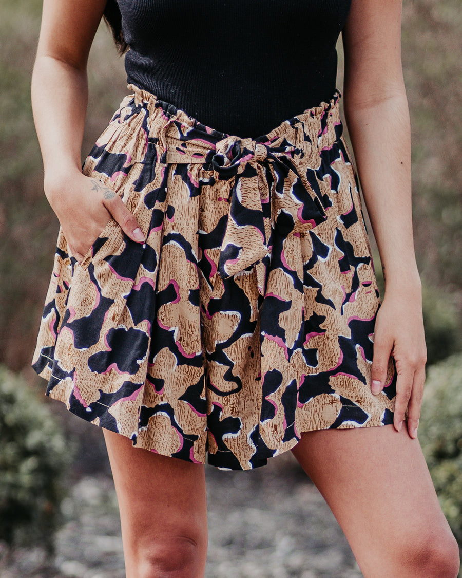 Emily Abstract Shorts