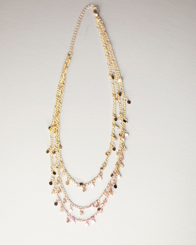 Tri-Layer Golden Necklace