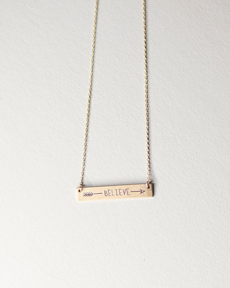 """Believe"" Necklace"