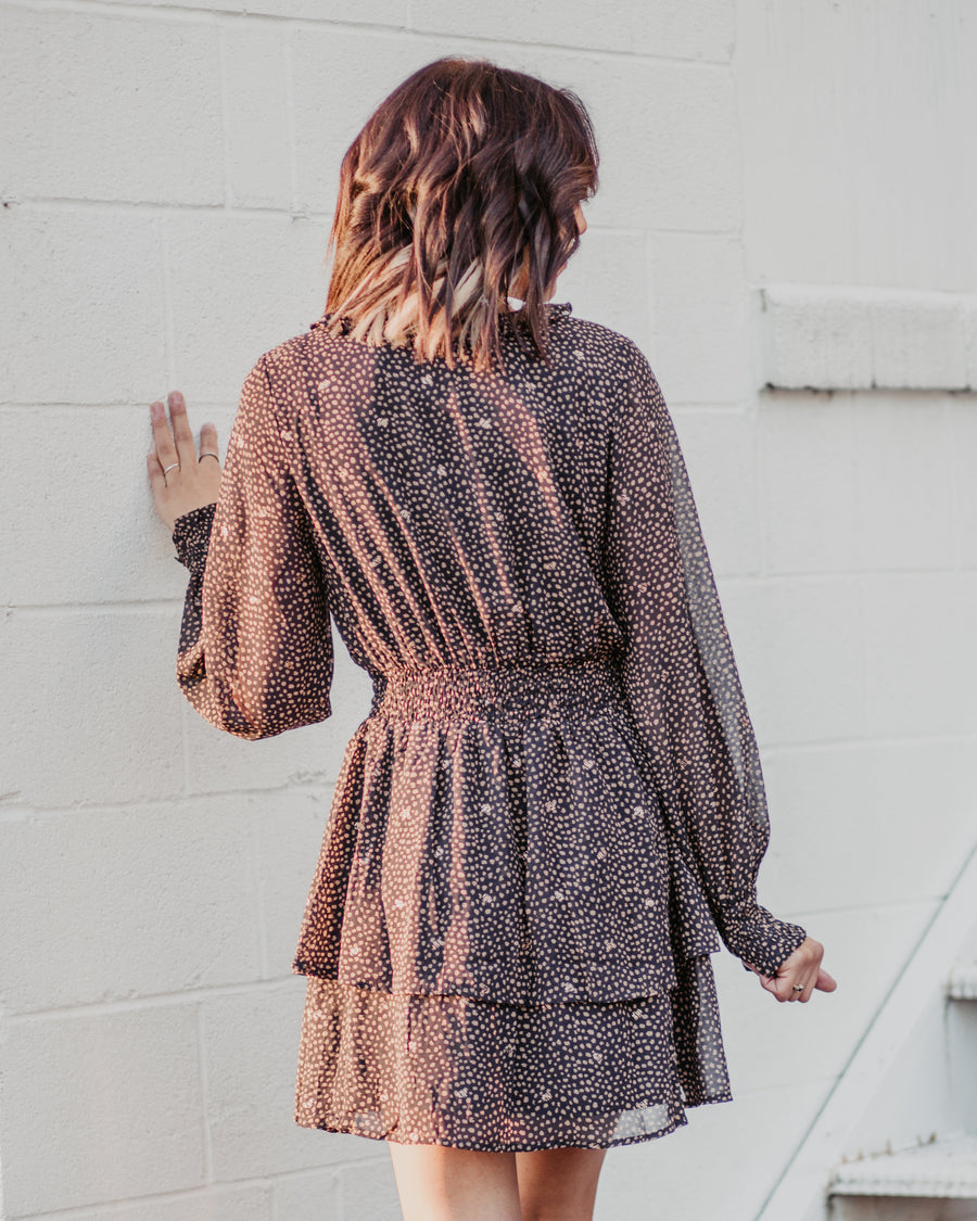 Speckled Ruffle Dress