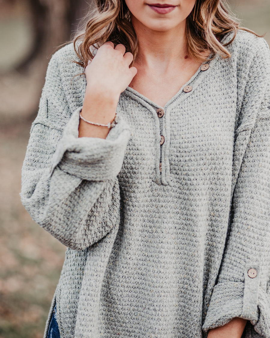 Ana Button Detail Sweater