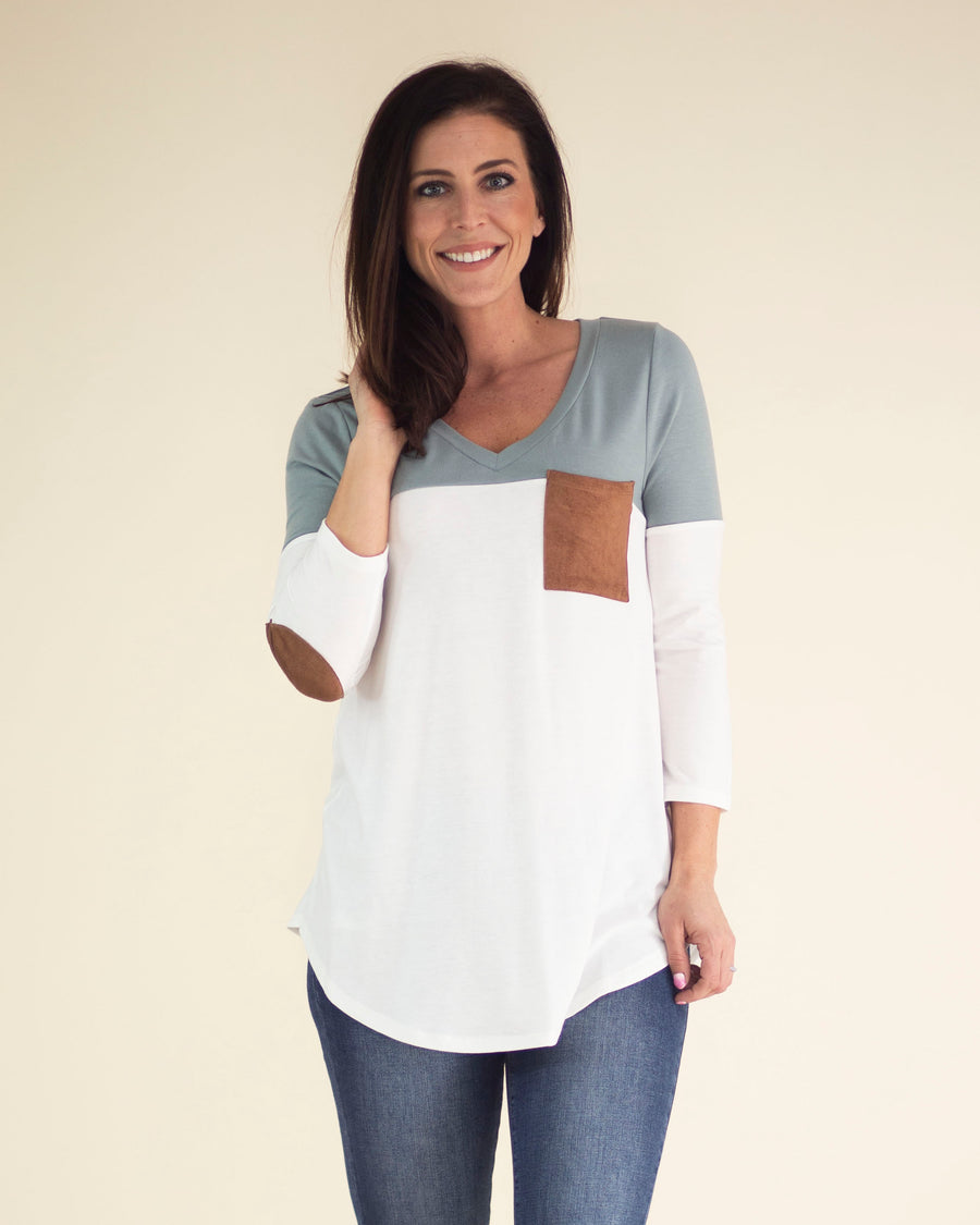 Rebecca Elbow Patch Top