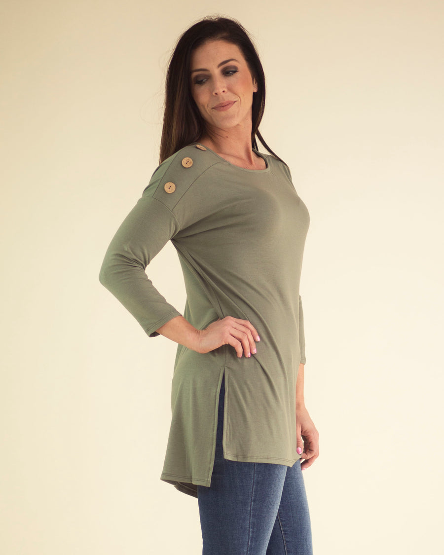 Alex Button Detail Top