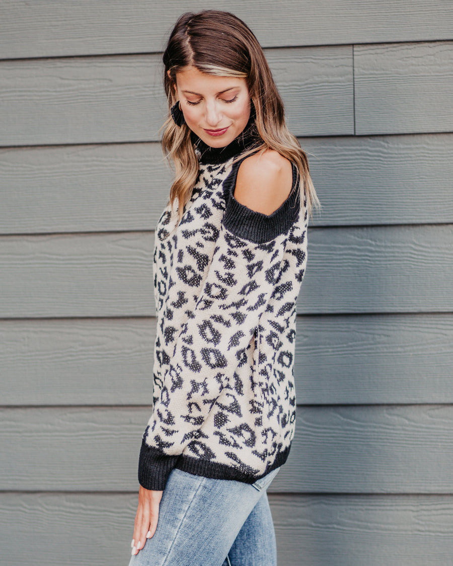 Tiffany Turtleneck Leopard Sweater