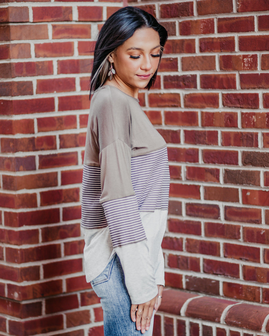 Allie Striped Colorblock Top