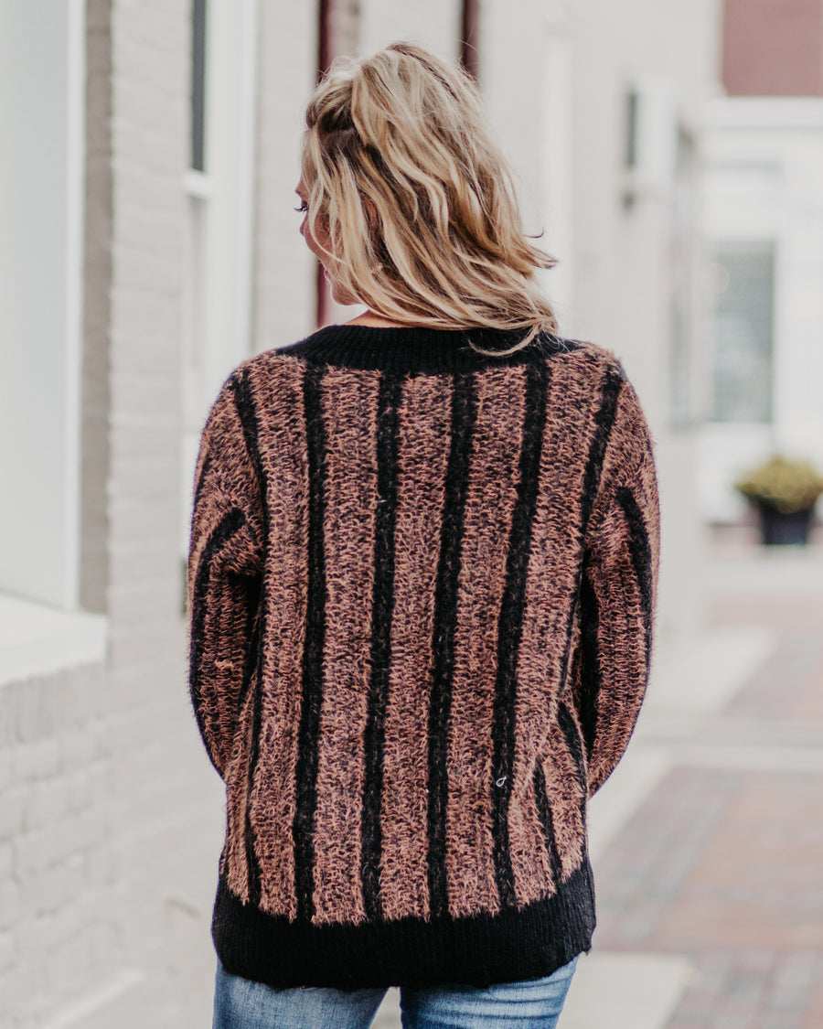 Rosa Two Tone Knit Sweater