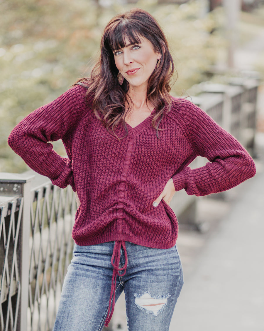 Elyse Tie Bottom Sweater
