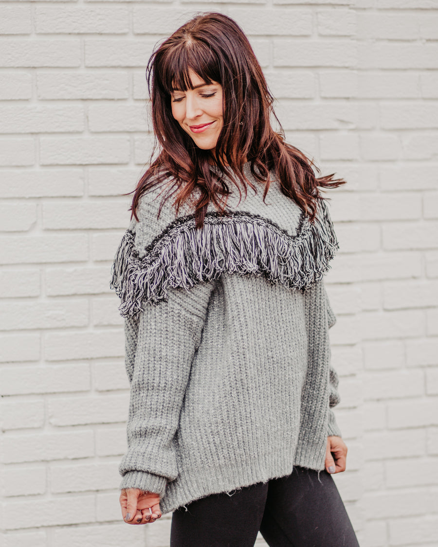 Carrie Fringe Sweater