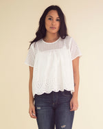 Eyelet Detail Crop Top