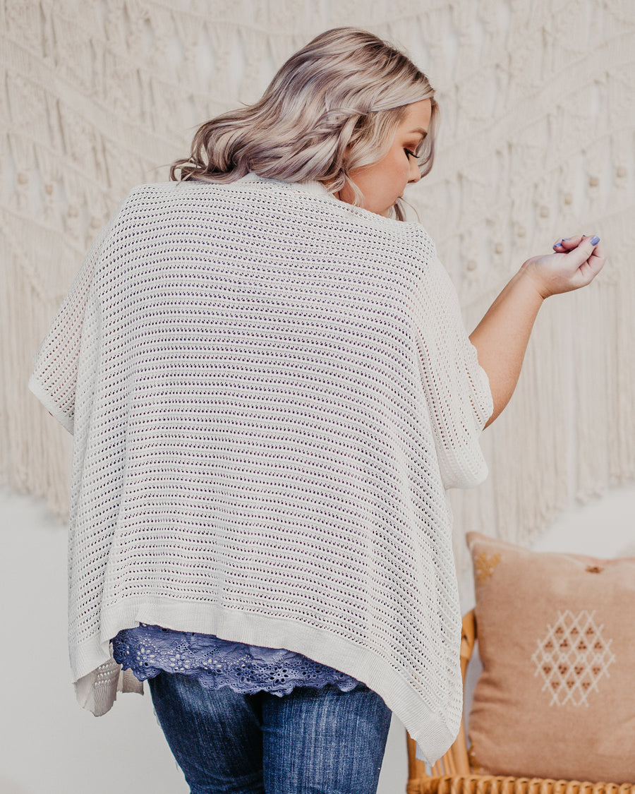 Laura Crochet Cropped Cardigan