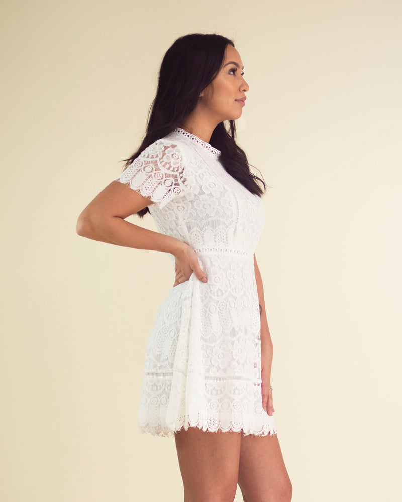 Classic White Lacey Dress