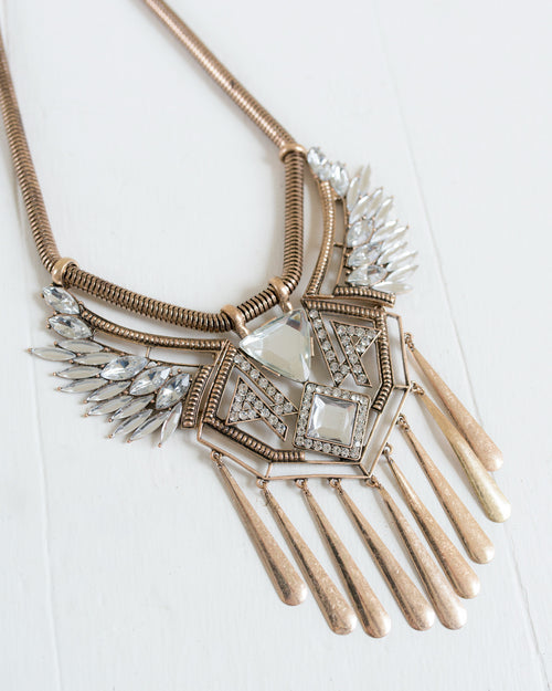 Tribal Boho Statement Necklace | Rose & Remington