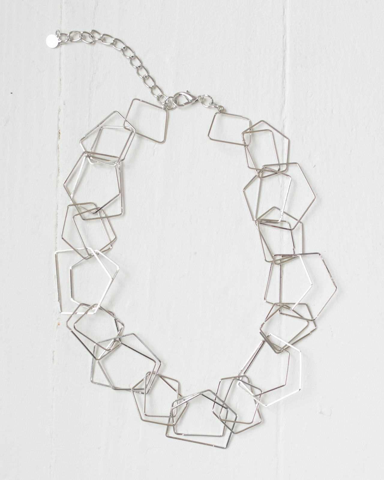Linked Geometric Hoops Necklace | Rose & Remington