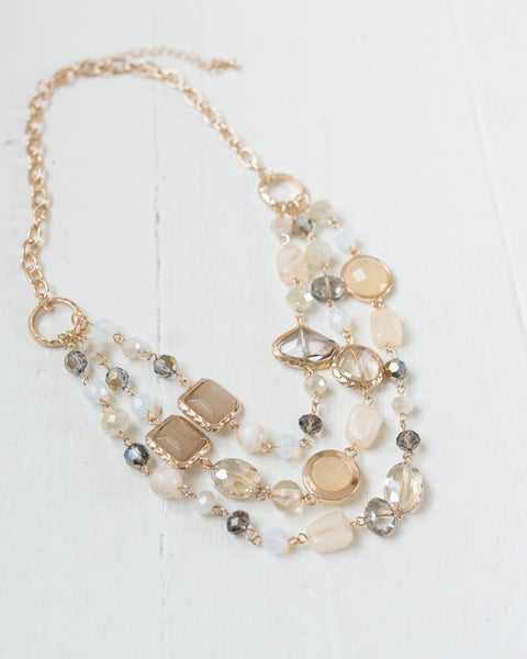 Mixed Beads Layered Necklace