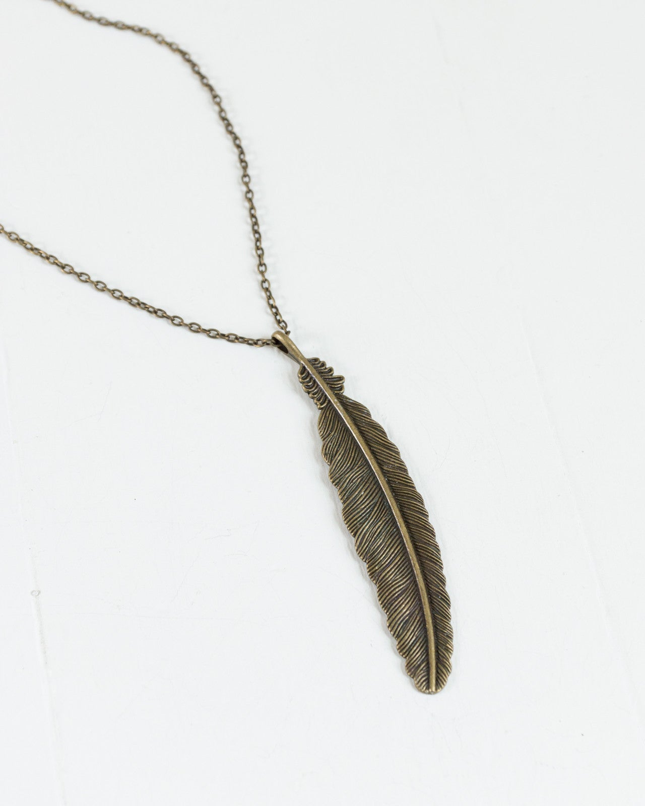 Vintage Feather Necklace | Rose & Remington