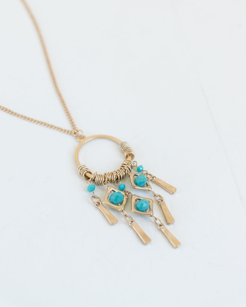Catching Dreams Turquoise Pendant Necklace