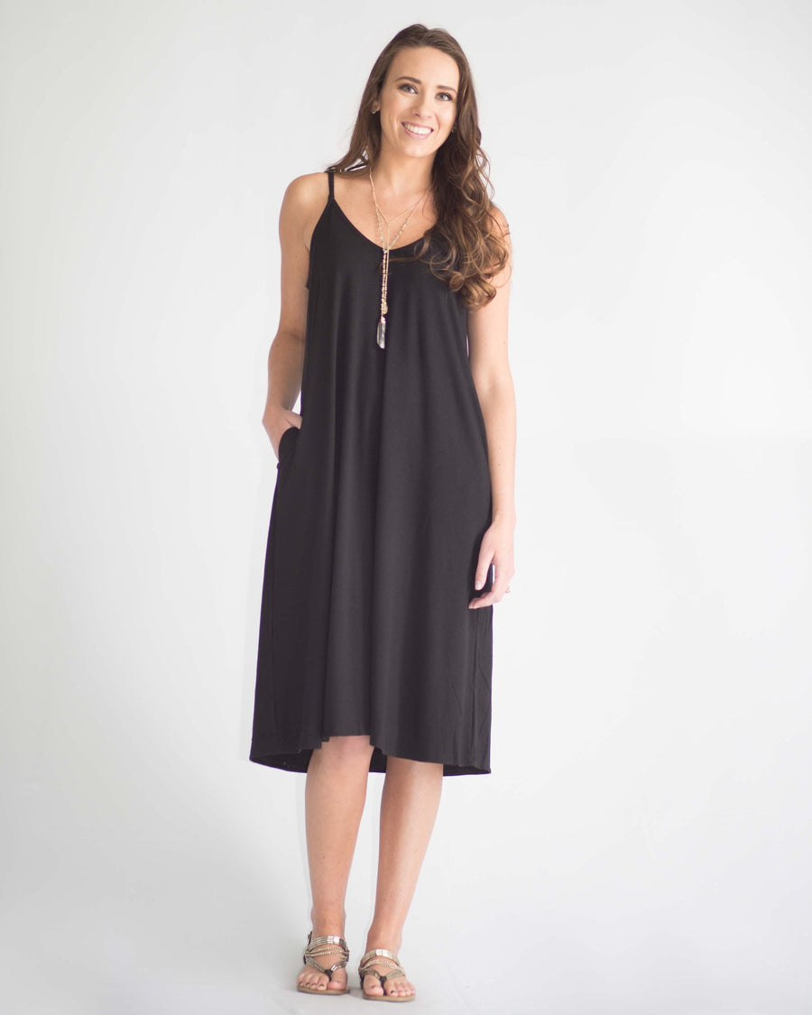 Ensley Pocketed Midi Dress