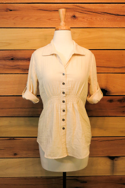 Cotton Button-Up Blouse | Rose & Remington