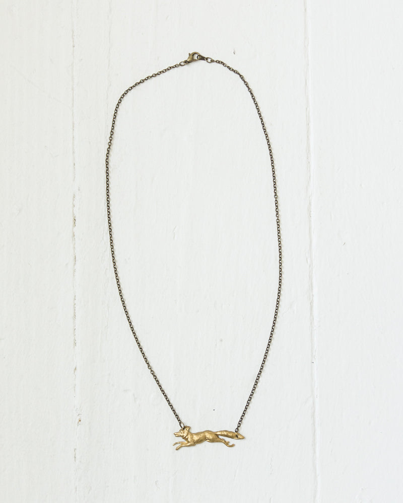 Brass Fox Necklace | Rose & Remington