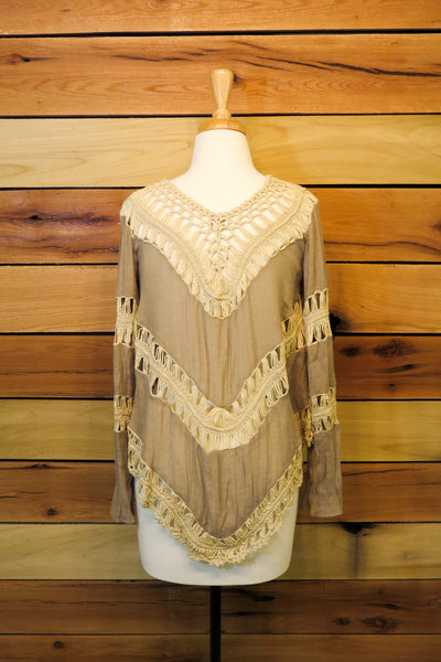 tan boho blouse | Rose & Remington