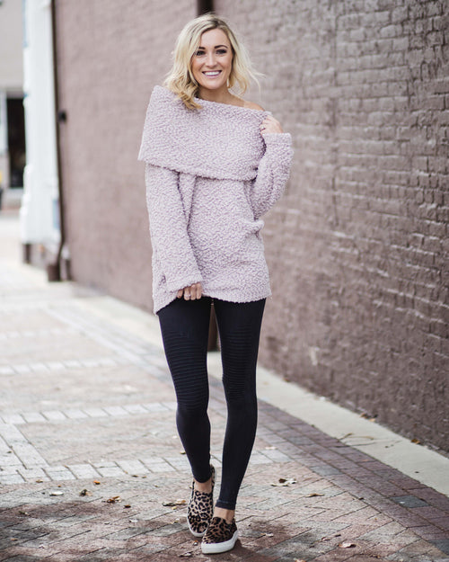 Regan Fold Over Knit Sweater