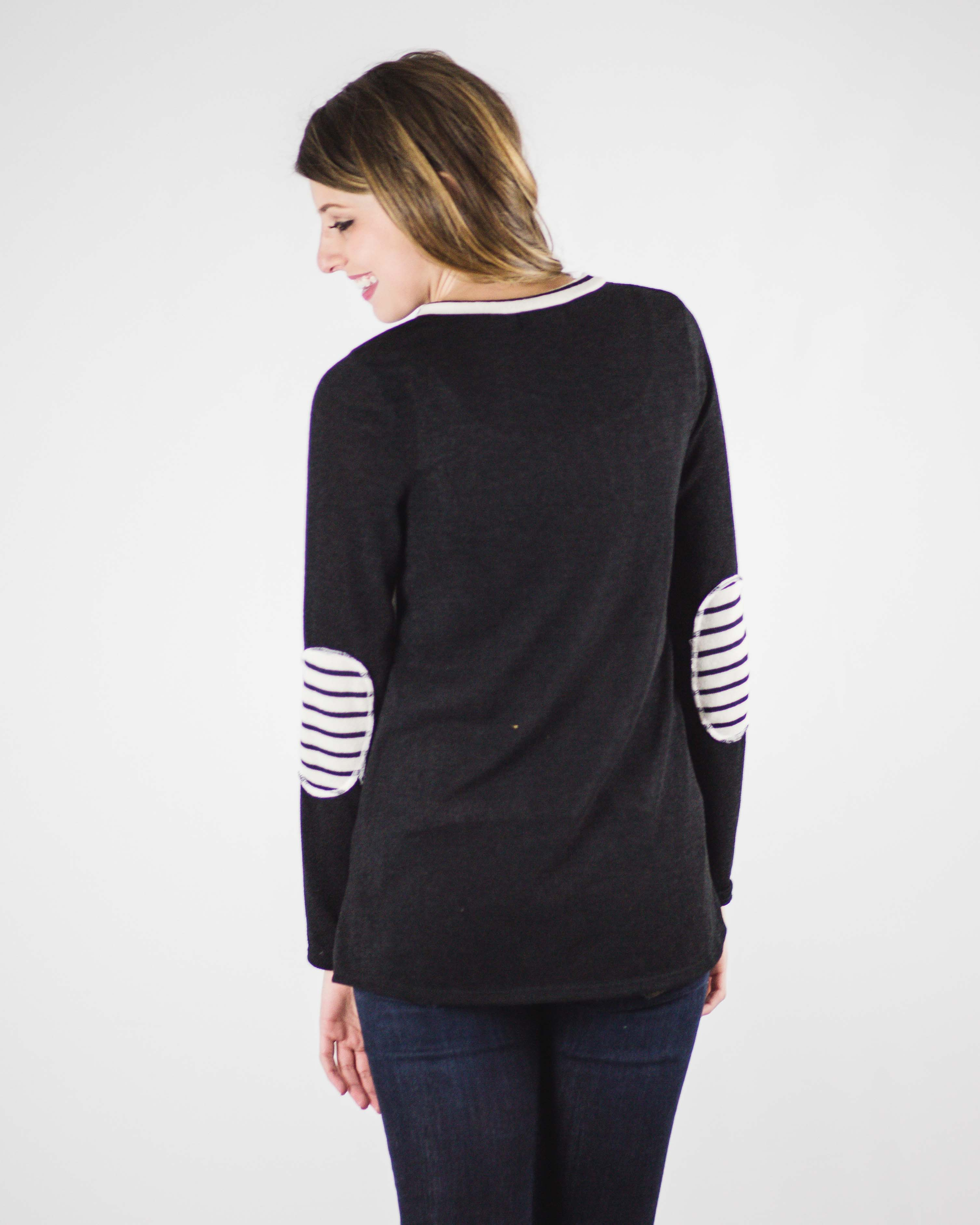 Quinn Elbow Patch Top