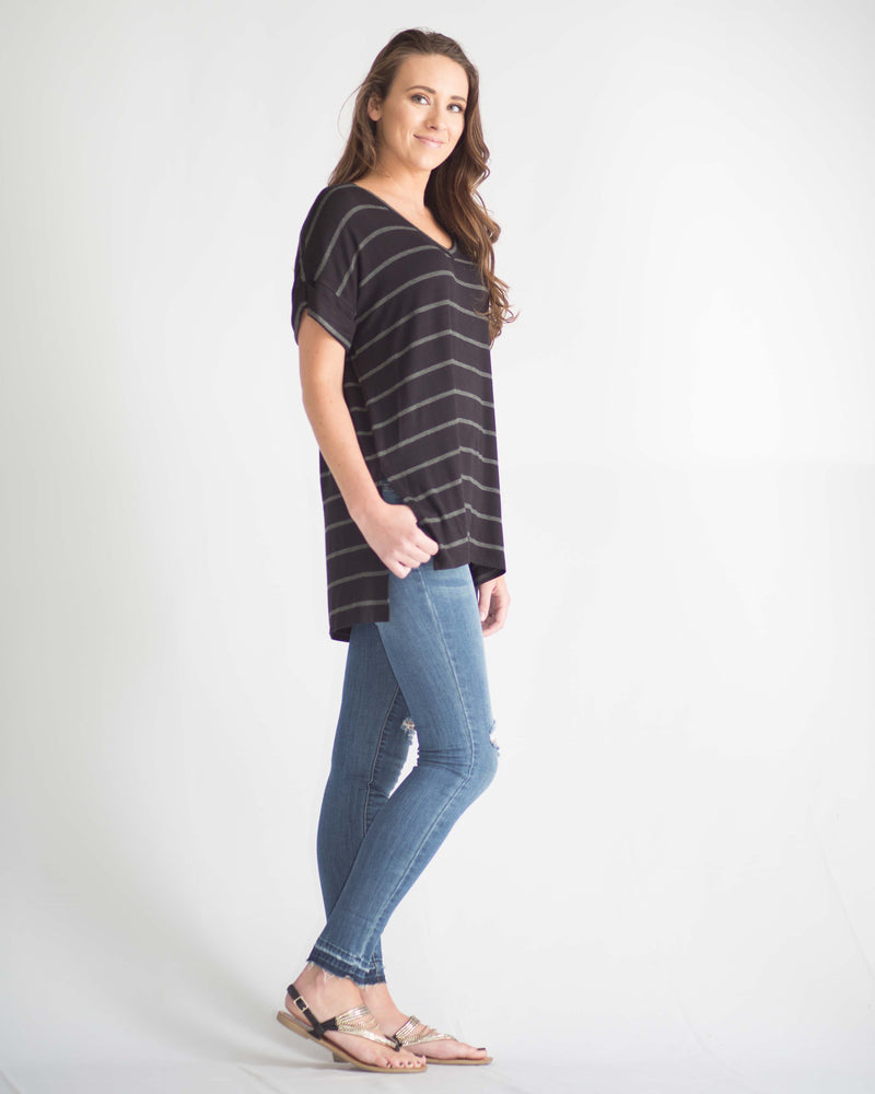 Eva Striped Relax Fit Tee