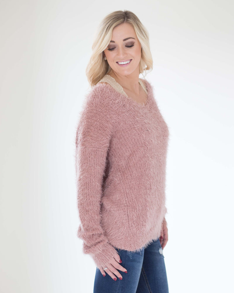 Tara Twist Back Sweater
