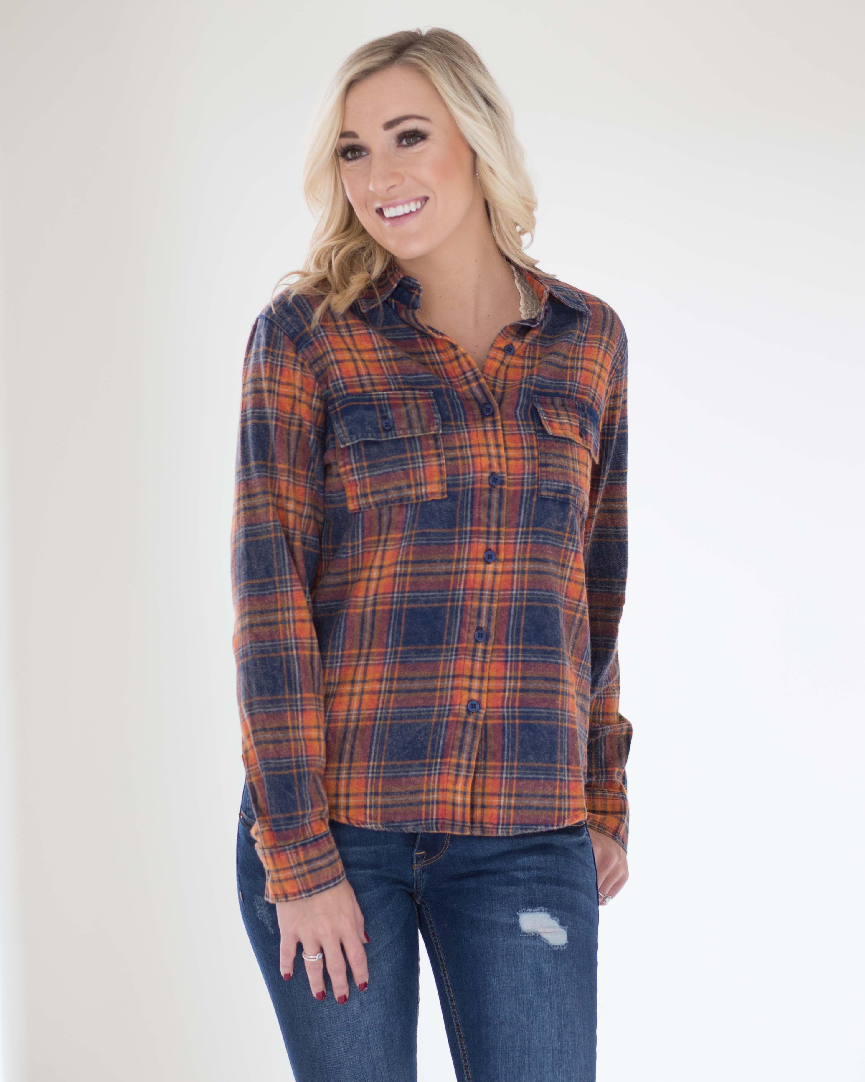 Cara Plaid Flannel Top