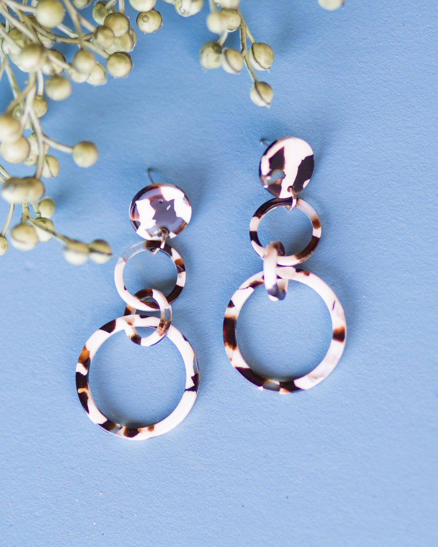 Third Time's a Charm Earrings- White