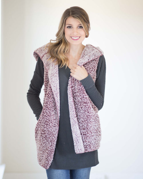 Ellie Hooded Sherpa Vest