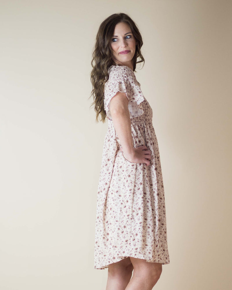 Magnolia Smocked Midi Dress