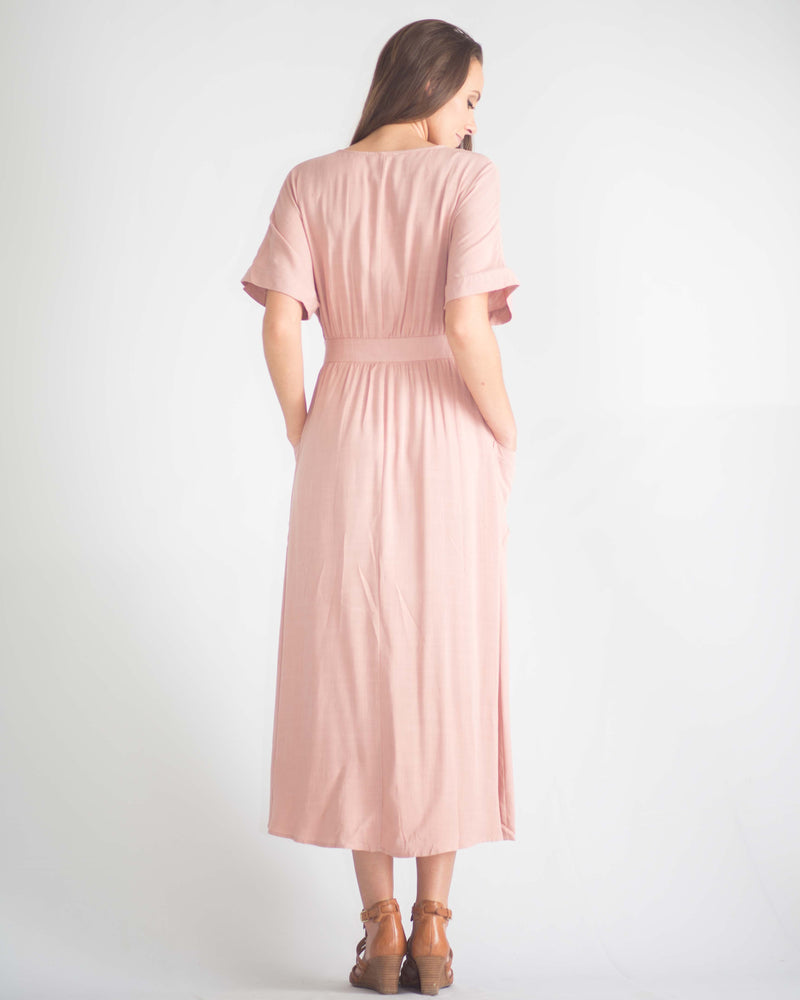 Emery Pocketed Wrap Dress