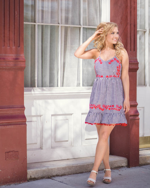 Viola Embroidered Dress | Rose & Remington
