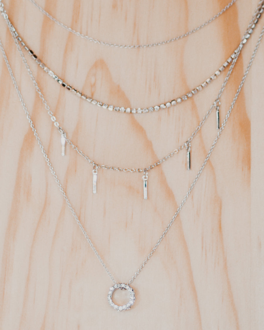 Joanna Layered Silver Necklace