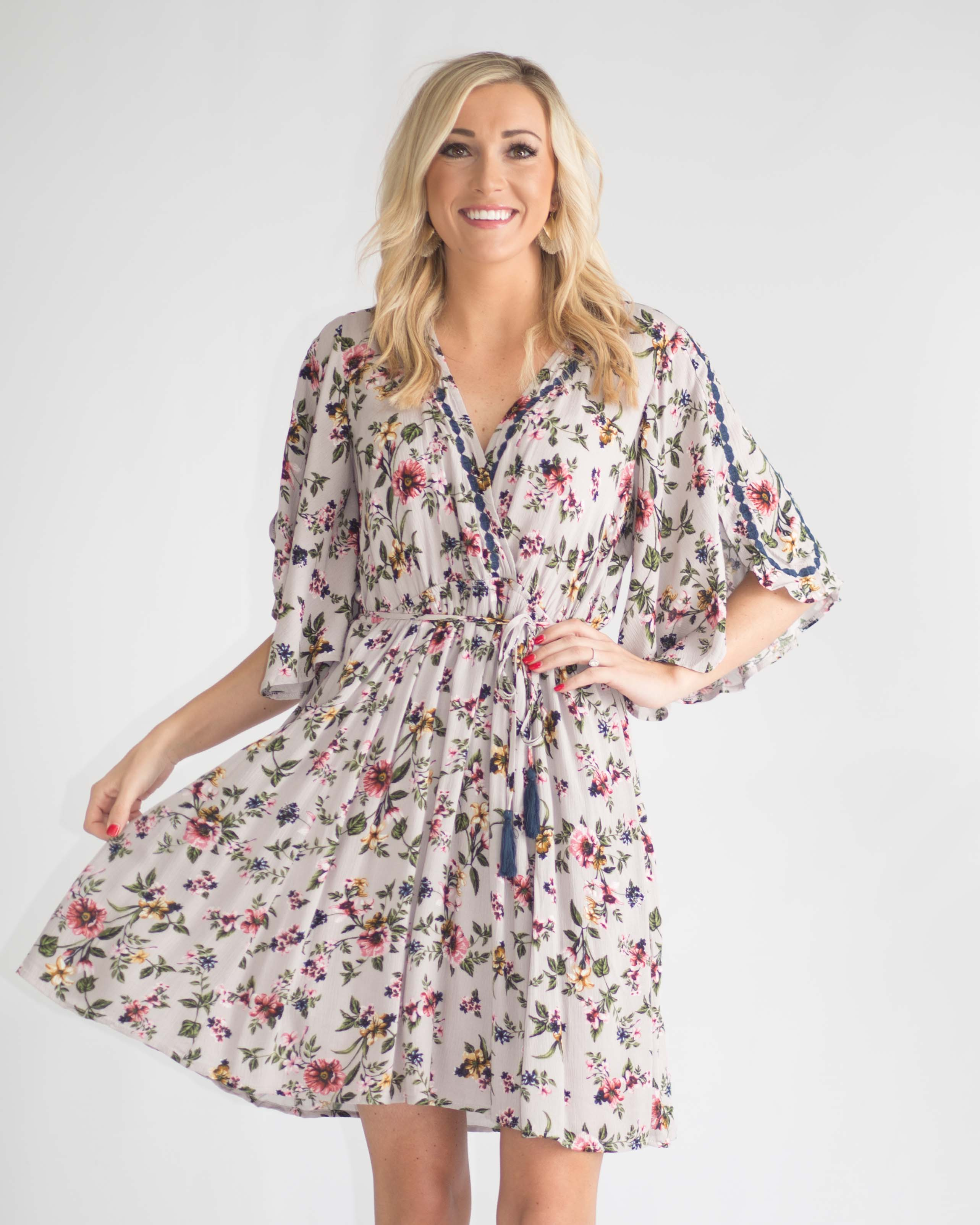 Penelope Tie Front Wrap Dress