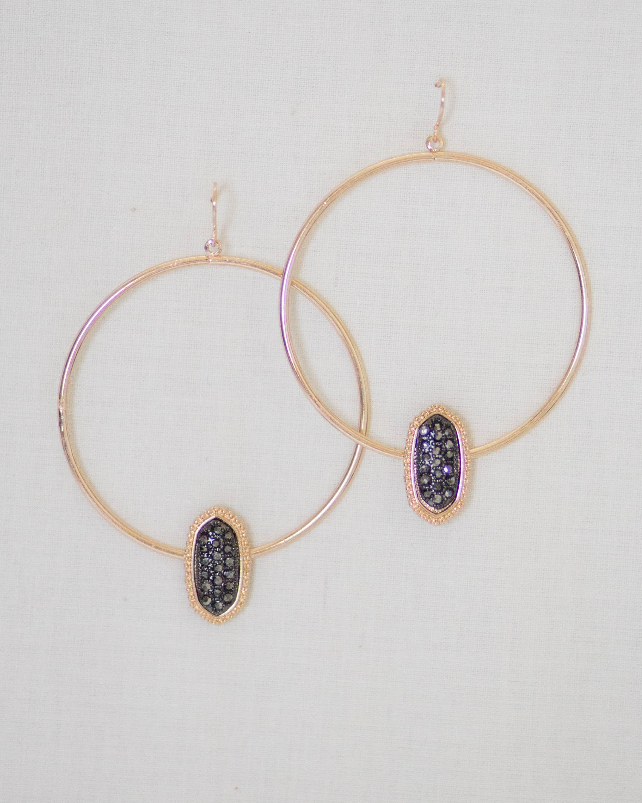 Stone Cluster Hoop Earrings | Rose & Remington