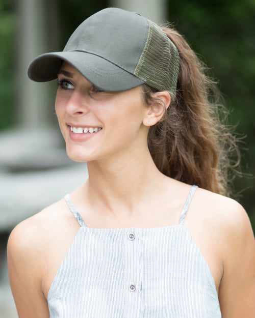 Side Mesh Pony Cap | Rose & Remington