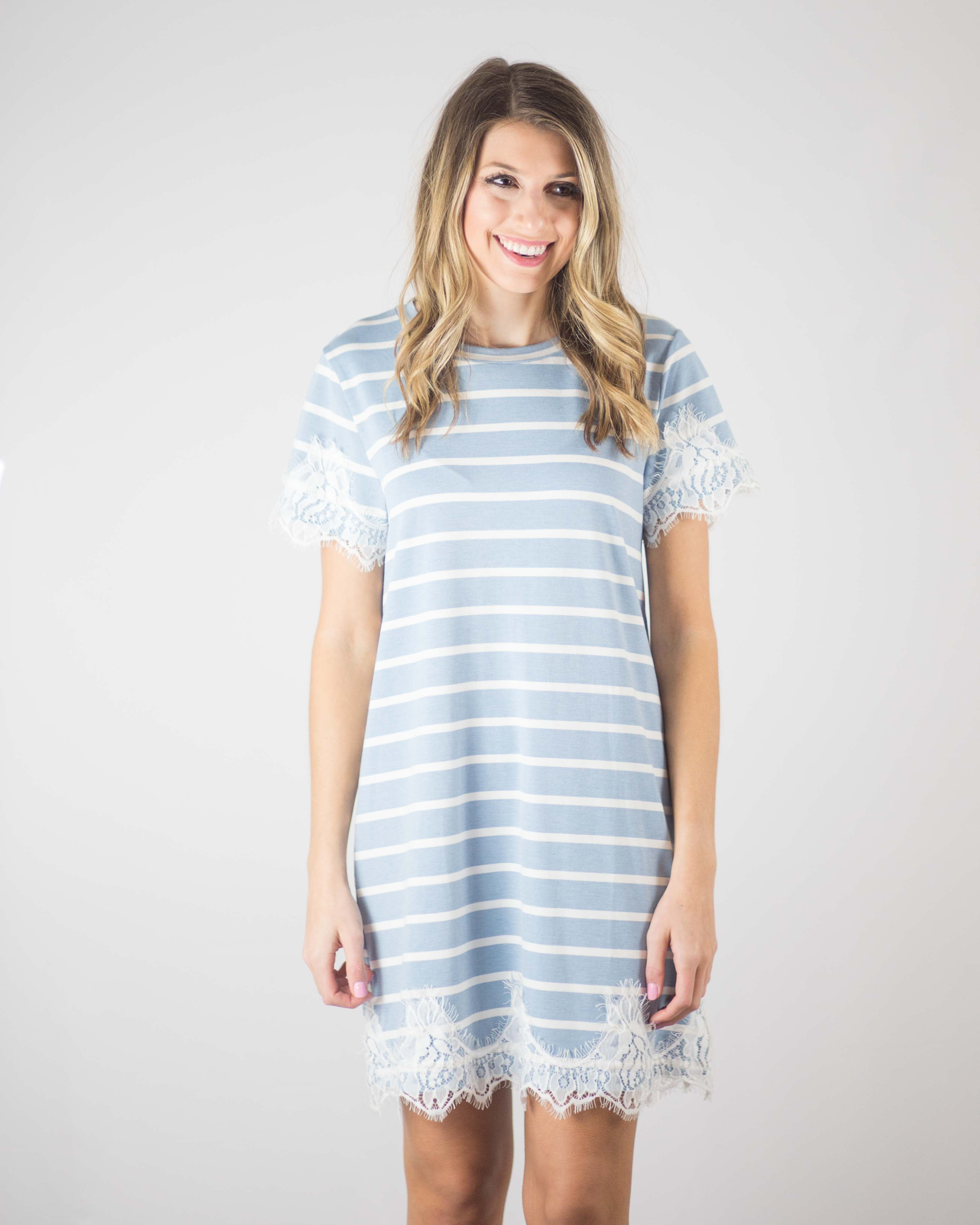 Evelyn Lace Trim Dress