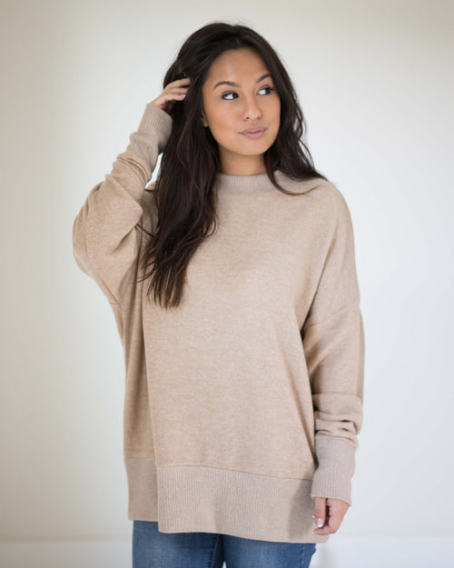 Everyday Fleece Crew Neck Top | Rose & Remington