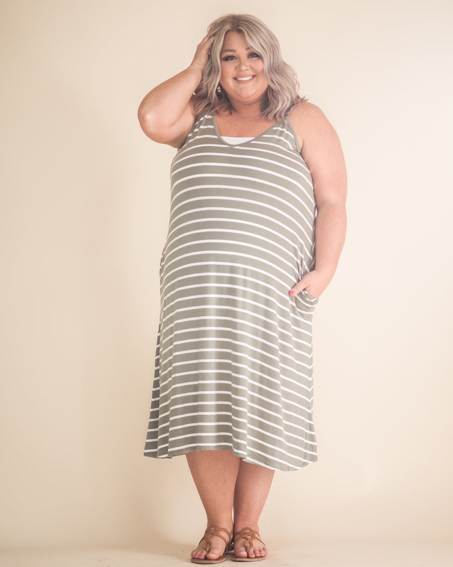 Laura Pocketed Striped Dress