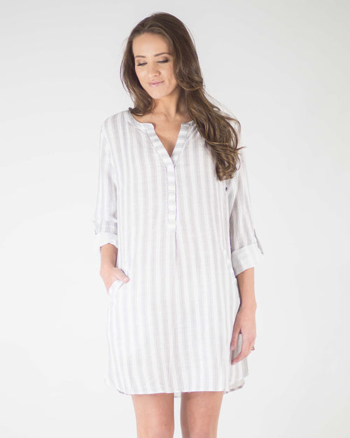 a80dee2763a122 Charlie Long-Sleeve Pocketed Dress