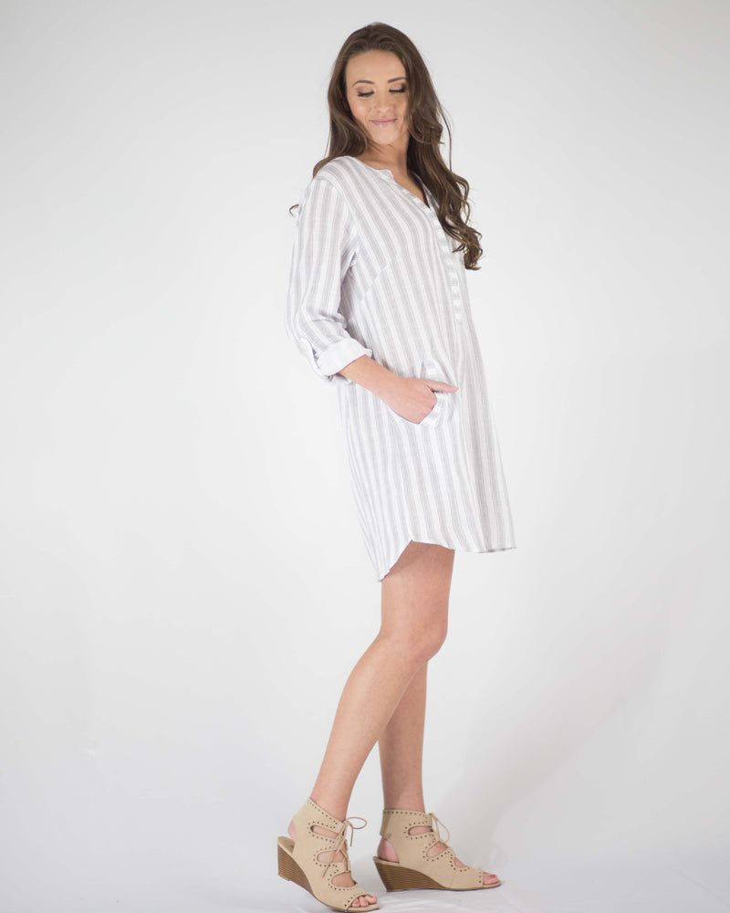 Charlie Long-Sleeve Pocketed Dress