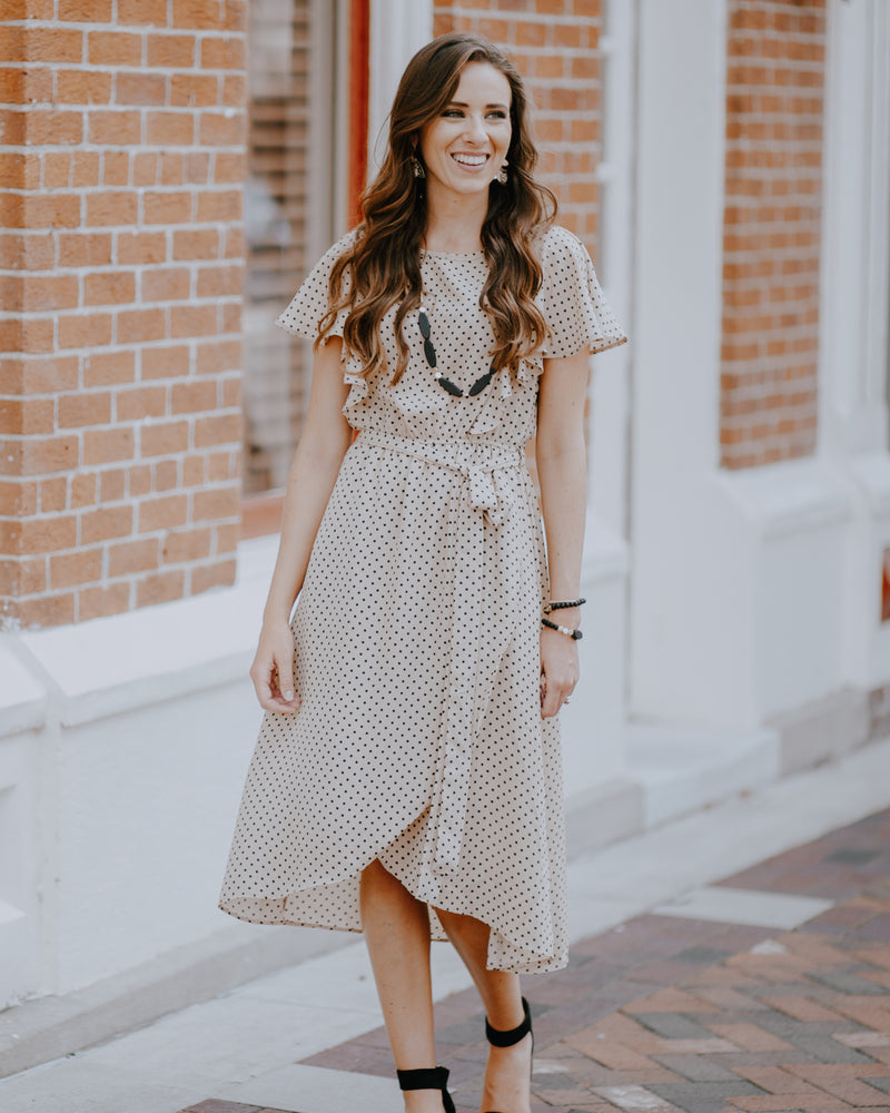 Tilly Polka Dot Midi Dress