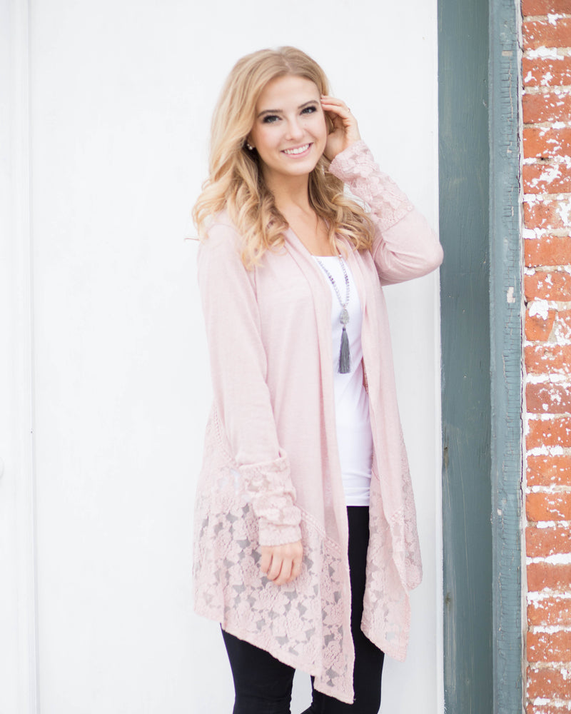 Lovely Tapered Lace Cardigan